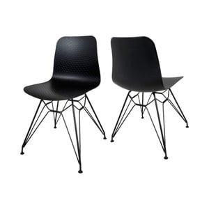 Czarne krzesło Canett Paris