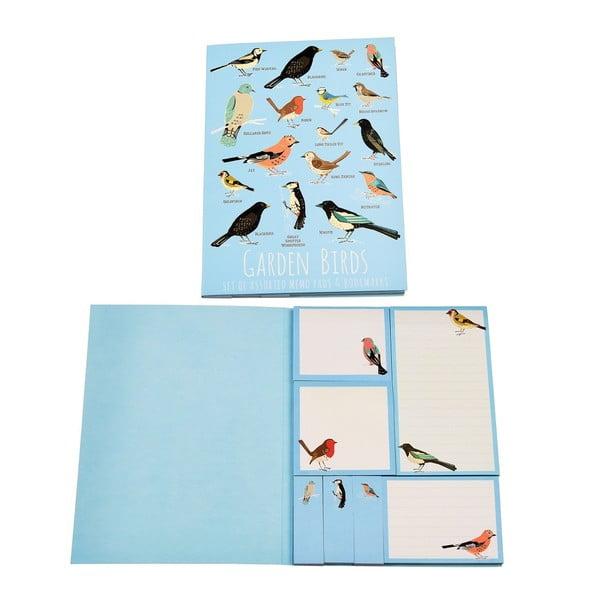 Zestaw karteczek samoprzylepnych Rex London Garden Birds