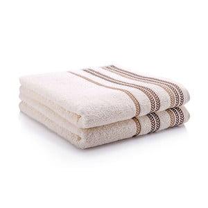 Komplet dwóch ręczników Hugo 50x90 cm, cream