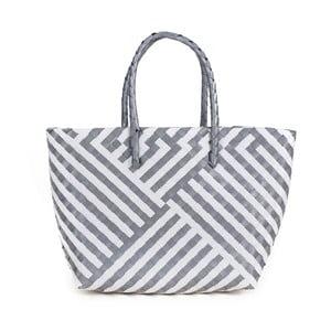 Biało-szara torba plażowa Art of Polo Chris