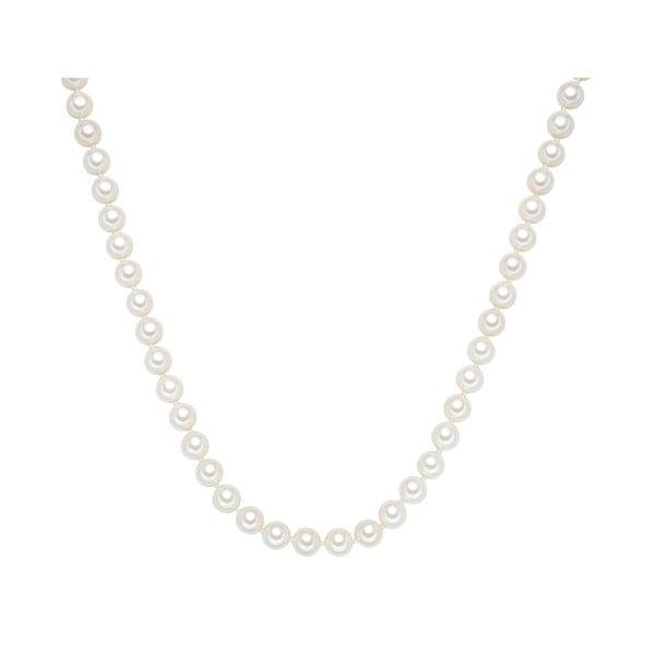 Naszyjnik z białych pereł ⌀ 8 mm Perldesse Muschel, długość 50 cm
