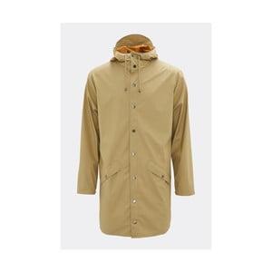 Beżowa kurtka unisex o wysokiej wodoodporności Rains Long Jacket, rozm. L/XL