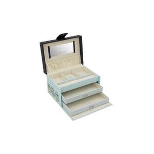Jasnoniebieska szkatułka na biżuterię Friedrich Lederwaren Owlivia
