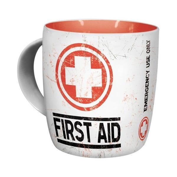 Kubek ceramiczny First Aid, 330 ml