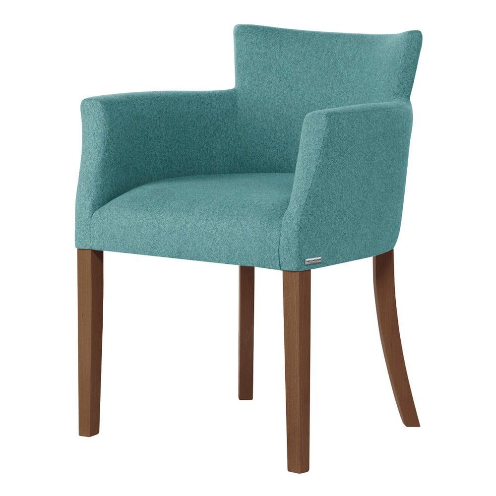 Jasnozielone krzesło z ciemnobrązowymi nogami Ted Lapidus Maison Santal