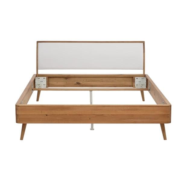 Łóżko dębowe Gazzda Ena, 180x200 cm