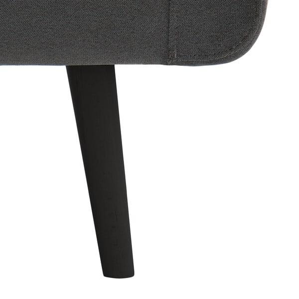 Narożnik prawostronny VIVONITA Sondero Light Grey, czarne nogi