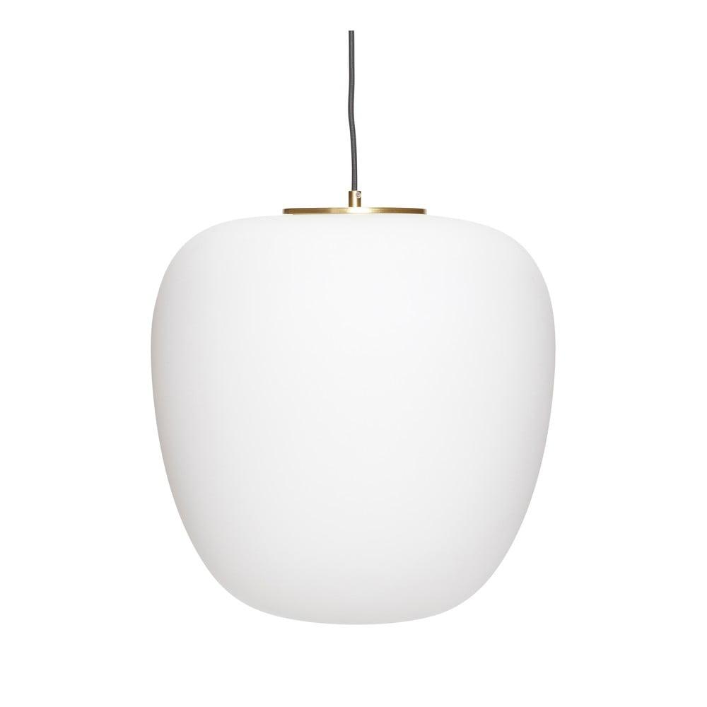 Biała lampa wisząca Hübsch Luno
