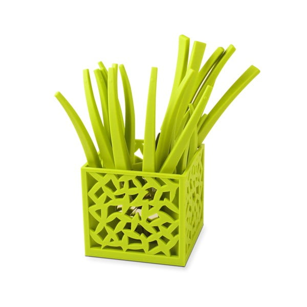 Zestaw 24 zielonych sztućców Vialli Design