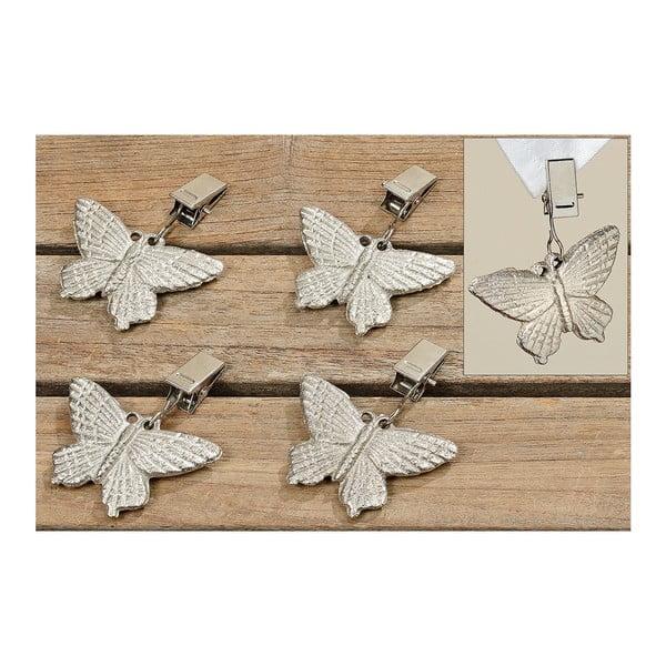 Klipsy naciągające obrus Butterflies, 4 szt.