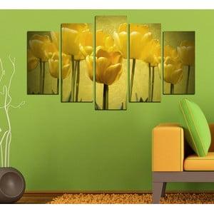 5-częściowy obraz Żółte tulipany