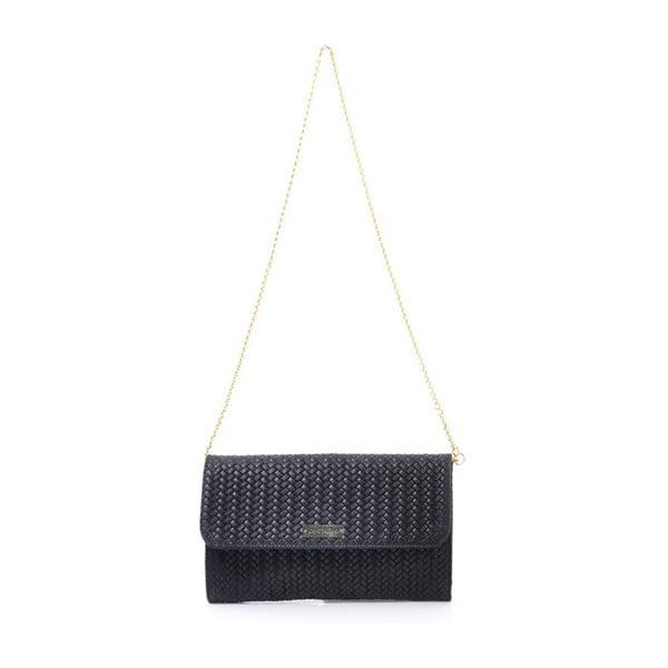 Skórzana torebka Yaelle, czarna