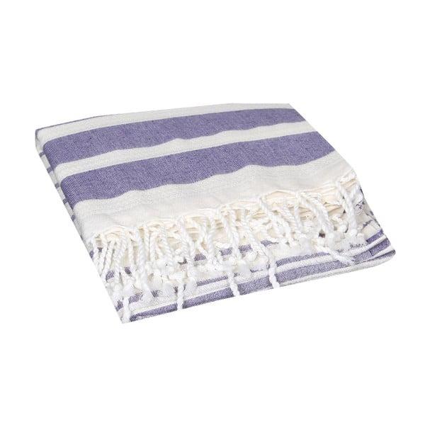 Fioletowy ręcznik hammam Aqua Purple, 90x190cm