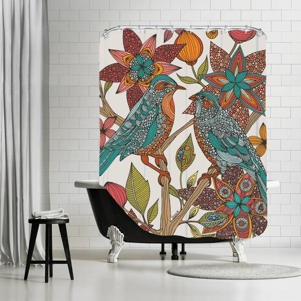 Zasłona prysznicowa Love Birds, 180x180 cm