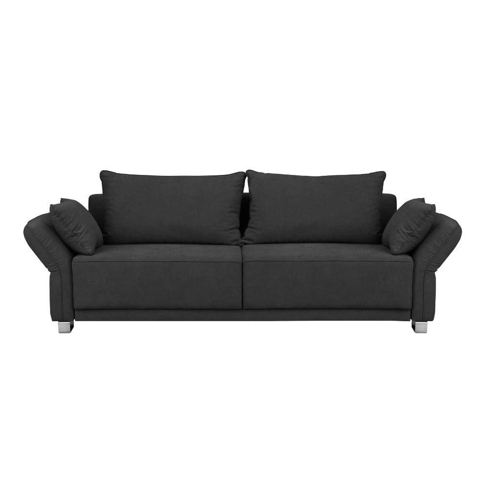 Ciemnoszara 3-osobowa sofa rozkładana ze schowkiem Windsor & Co Sofas Casiopeia
