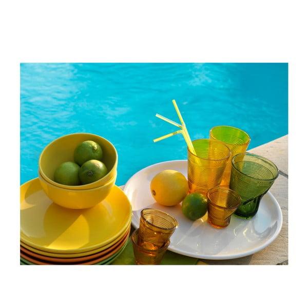 18-częściowy komplet talerzy Kaleidos, żółto-zielono-pomarańczowy