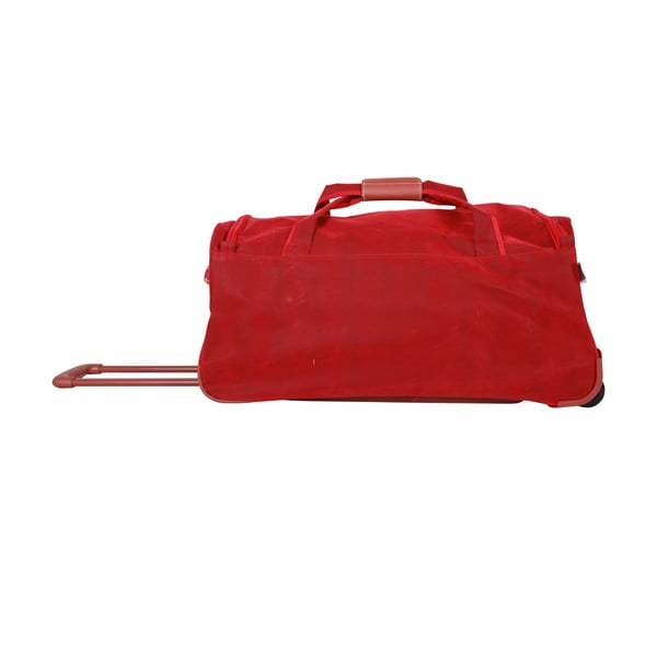 Podróżna torba na kółkach Jean Louis Scherrer Red, 60 l