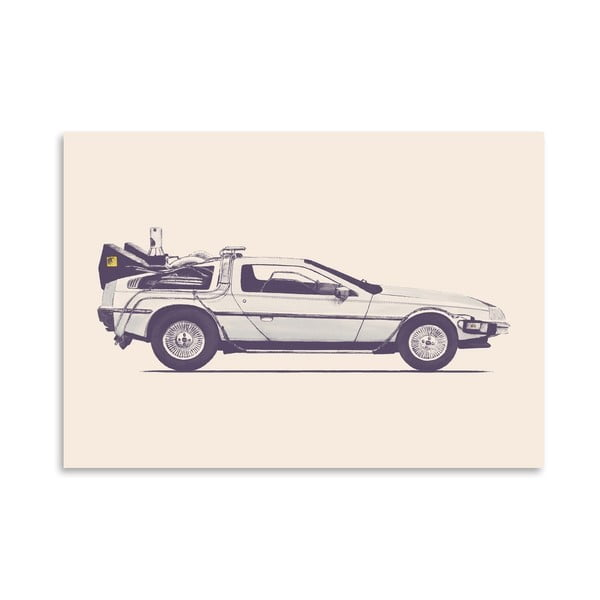 Plakat Delorean - Back To The Future, 30x42 cm