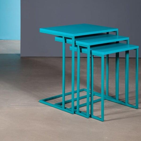 Zestaw 3 stolików Cercis Nesting Turquoise