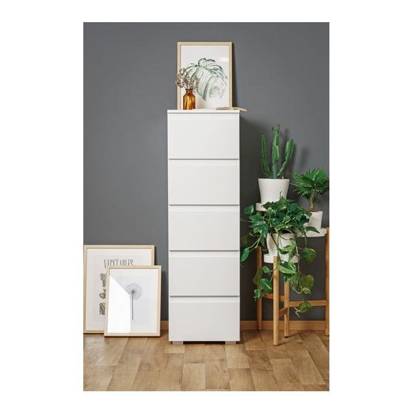 Biała szafka z 5 szufladami Intertrade Image