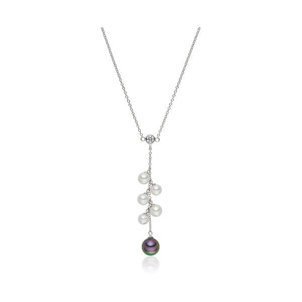 Zawieszka   z perłą ozdobiona cyrkonią Pearls Of London
