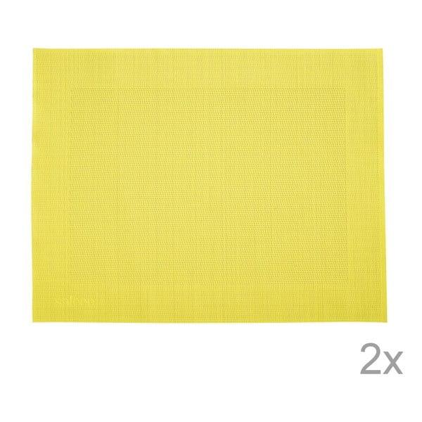Zestaw 2 mat stołowych Saleen Yellow, 30x40 cm