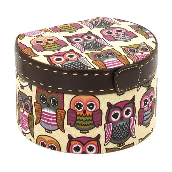 Pomarańczowa okrągła szkatułka  Owlivia