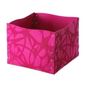 Filcowe pudełko, 25x20 cm, różowe