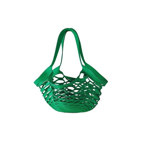 Filcowa torebka siatkowa, zielona