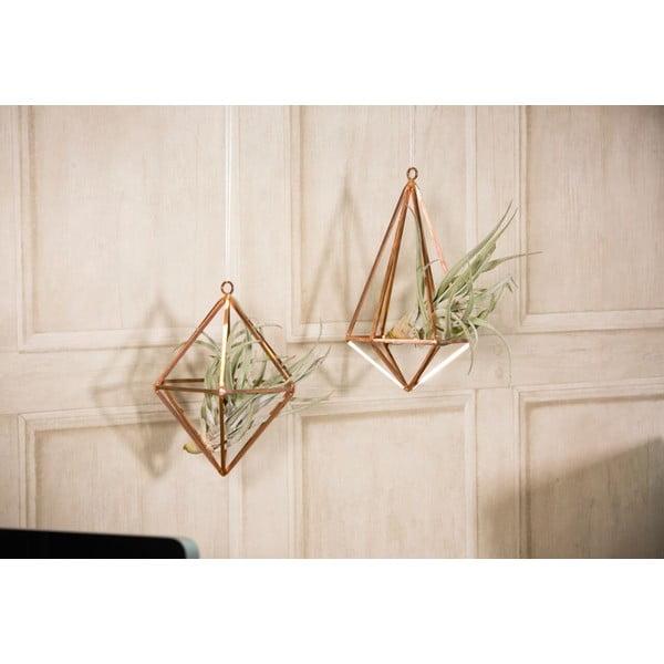 Terrarium wiszące z roślinami Prism, 28.5 cm