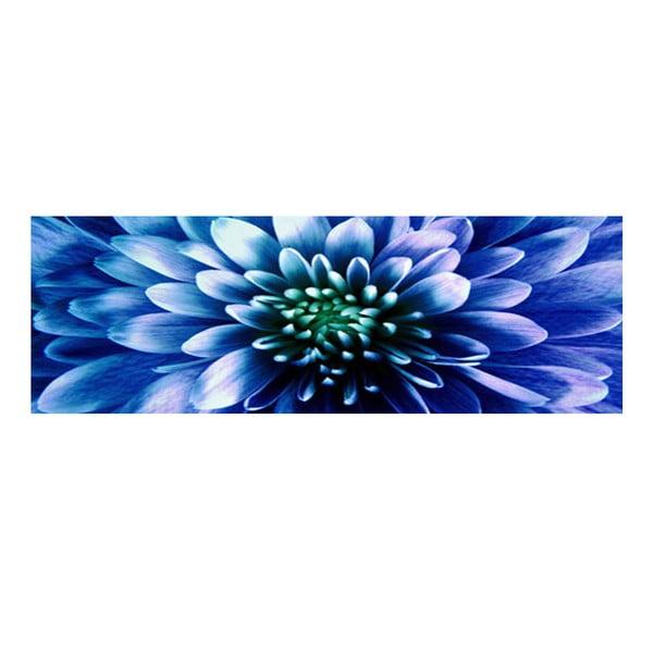 Obraz na szkle Niebieski kwiat, 30x90 cm