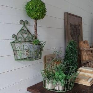 Zestaw 2 metalowych półek naściennych Antique Green