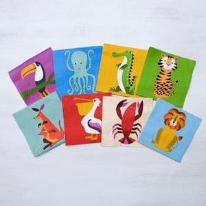Zestaw 20 papierowych serwetek Rex London Colourful Creatures
