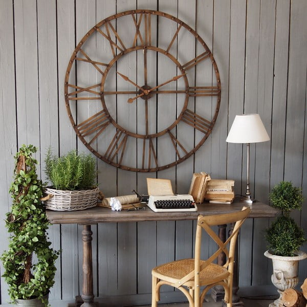 Zegar ścienny Industrial Rusty Brown, 114 cm