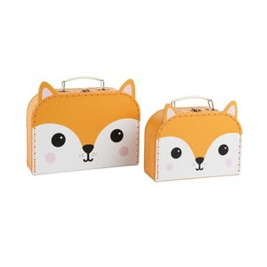 Zestaw 2 kuferków Sass & Belle Hiro Fox Kawaii