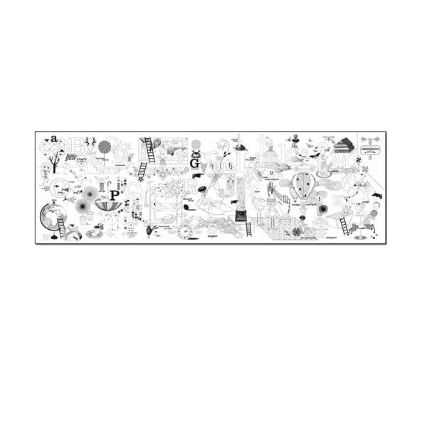 Kolorowanki Abecedaire, 50x160 cm