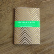 Notes Gold Chevron