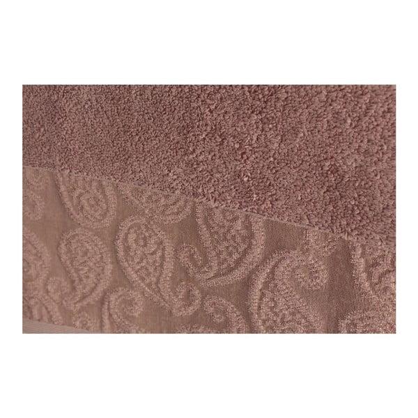 Zestaw 2 szaroróżowych ręczników Balon, 90x150 cm