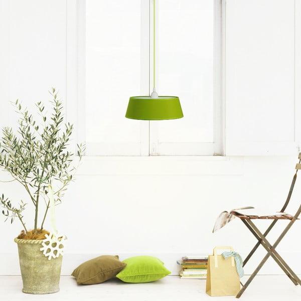 Lampa wisząca Tako, zielona/zielony kabel