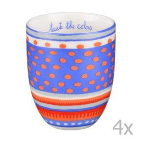 Komplet 4 porcelanowych filiżanek Oilily 200 ml, niebieski