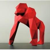 Papierowa rzeźba Goryl, czerwona