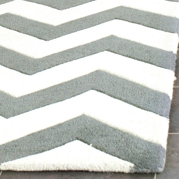 Dywan wełniany Crosby Middle Grey, 152x243 cm