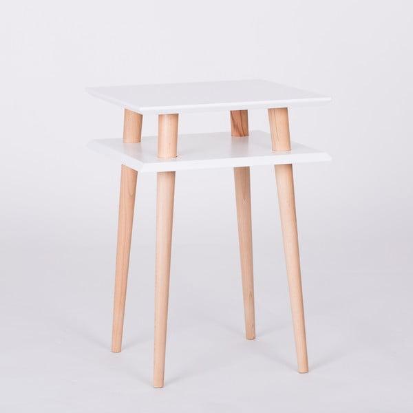 Biały stolik Ragaba Square, 43x43 cm