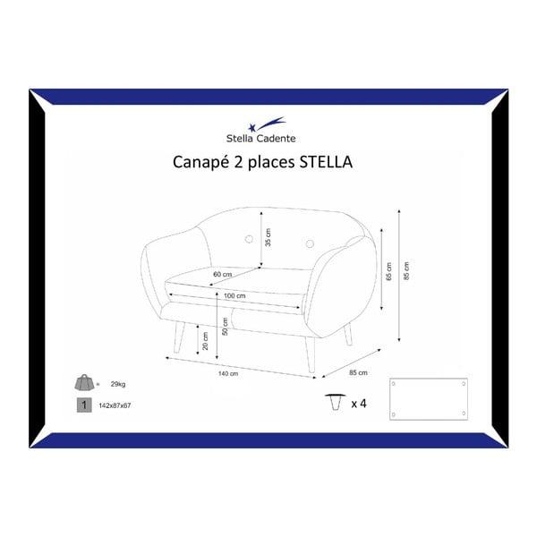Sofa dwuosobowa Stella Black