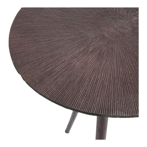 Metalowy   stolik Alu, ciemny