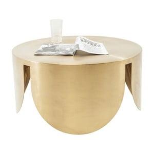 Stolik w złotym kolorze Kare Design New Wave, ⌀ 80 cm