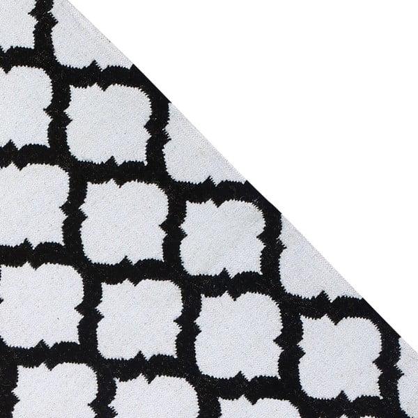 Dywan wełniany Geometry Guilloche Black & White, 160x230 cm