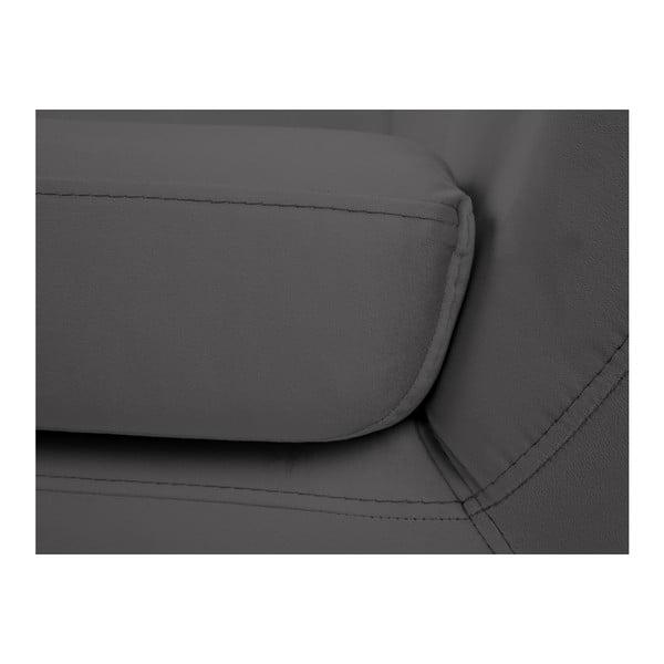 Szara sofa 2-osobowa z czarnymi nogami Mazzini Sofas Benito