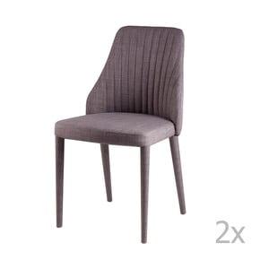 Zestaw 2 jasnoszarych krzeseł sømcasa Dora