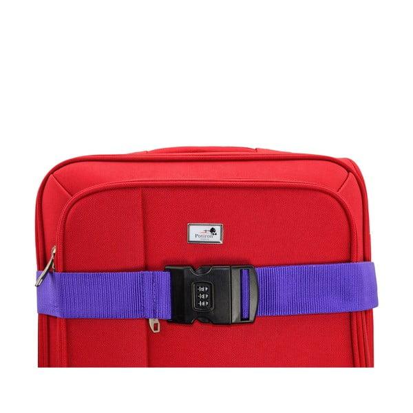Fioletowy pas spinający na walizkę z szyfrem Blue Star Access